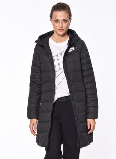 Kapüşonlu Uzun Şişme Mont-Nike